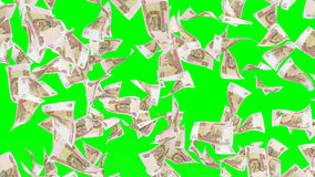 Fallende Banknoten des russischen rubel Stockfotos