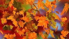 Fallende Blätter des Herbstes Stockfoto
