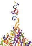 Fallende Buchstaben Lizenzfreies Stockbild
