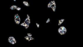 Fallende Diamanten stock video