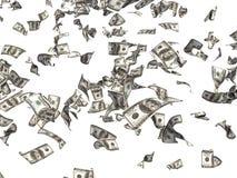 Fallende Dollar Stockfoto