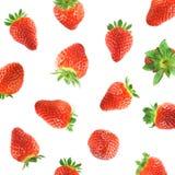 Fallende Erdbeere Lizenzfreie Stockfotografie