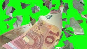 Fallende Eurobanknoten in der Farbenreinheit befestigen 4K Loopable stock video