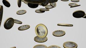 Fallende Euromünzen stock video