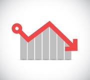fallende Gewinngeschäftsdiagrammillustration Stockfoto