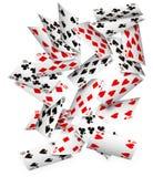 Fallende Karten Stockfotos