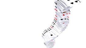 Fallende Karten Stockbild