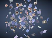 Fallende Karten Stockfotografie