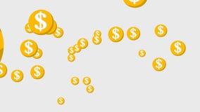 Fallende Münzen, gibt es einen Alphakanal stock abbildung