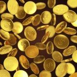 Fallende Münzenillustration Stockbilder