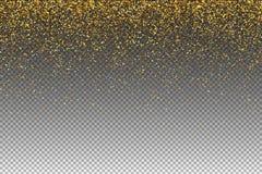 Fallende Partikel lokalisiert auf transparentem Hintergrund Lichter glänzen Effekt für Ihren Entwurf Fallende Partikel für Grußka stock abbildung
