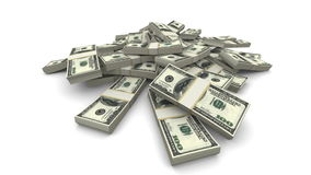Fallende Sätze der Dollar-(USD) - realistisch stock video
