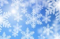 Fallende Schneeflocken Stockfoto