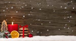 Fallende Schneeflocken des Weihnachtshintergrundes Lizenzfreies Stockbild