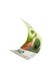 Fallende Schweizer Banknote Stockfotos