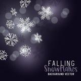Fallende Winter-Schneeflocken Stockfoto