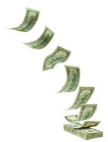 Fallende zu stapeln Dollar Stockfotografie