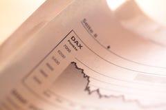 Fallender Aktienindex Stockfotografie