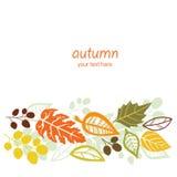 Fallender Blatthintergrund des Herbstes Lizenzfreies Stockbild