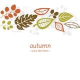 Fallender Blatthintergrund des Herbstes Stockfoto
