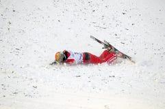 Fallender chinesischer Athlet CHENG Shuang Stockfotografie