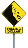 Fallender Dollar Lizenzfreie Stockbilder