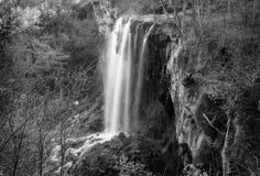 Fallender Frühlings-Wasserfall, Covington, Virginia Lizenzfreies Stockbild