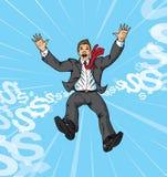 Fallender Geschäftsmann Lizenzfreie Stockbilder