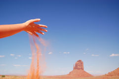 Fallender Sand Stockfotografie