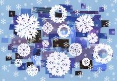 Fallender Schnee - Gestaltungsarbeit Lizenzfreies Stockbild