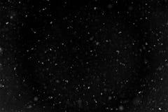 Fallender Schneehintergrund stockfoto