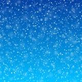 Fallender Schneewinterhintergrund stock abbildung