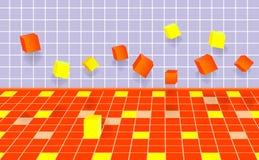 Fallendes cubes.vector 10eps. Stockbilder