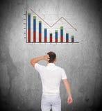 Fallendes Diagramm Stockfotos