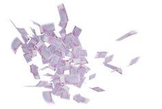 Fallendes Geld stockfoto