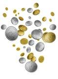 Fallendes Geld Lizenzfreie Stockbilder