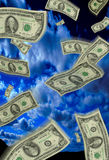 Fallendes Geld Stockfotografie