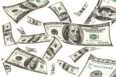 Fallendes Geld Lizenzfreies Stockfoto