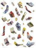 Fallendes Geld Stockfotos