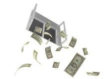 Fallendes Geld stock abbildung