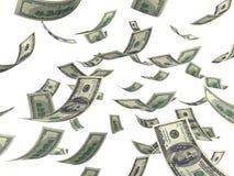 Fallendes Geld Lizenzfreies Stockbild