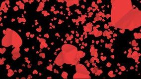 Fallendes Herz im Hintergrund für die Heirat, Einladung Romantischer Valentinsgrußhintergrund stock footage