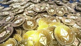 Fallendes Münzenressource ETHEREUM cryptocurrency lizenzfreie abbildung