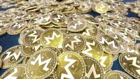 Fallendes Münzenressource monero cryptocurrency lizenzfreie abbildung