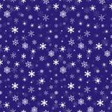 Fallendes nahtloses Muster der Schneeflocken des Winters Lizenzfreies Stockbild