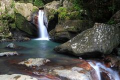 faller den dolde grottoen Royaltyfri Foto