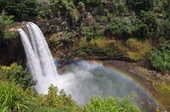faller den hawaii kauai wailuaen Arkivbild
