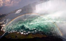 faller den niagara regnbågen Arkivfoto