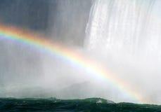 faller den niagara regnbågen Arkivbild