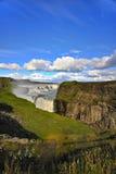 faller guld- gullfoss iceland arkivfoton